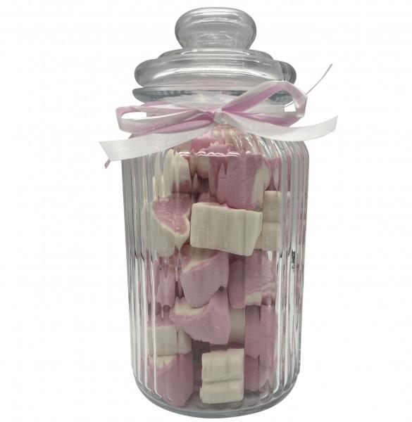 Naschi-Glas Mellow Herzen Pinky groß